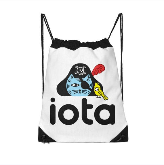 iOTA Pirate Kitty - Drawstring Bag - School Bag - Childrens Bag - Kids Bag