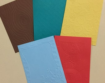 EMBOSSED CARDSTOCK 41/4 x 51/2 inches 5 pack Boys Pack 3
