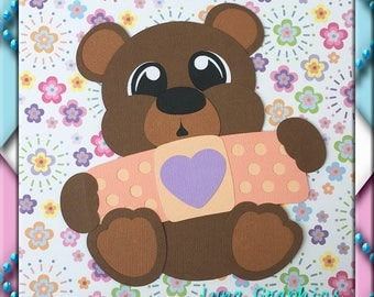 BOO BOO BEAR Embellishments Paper Piecing card making and scrapbooking
