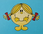 76. LITTLE MISS SUNSHINE from 100 tiny brushstrokes (the childhood memory project) - Original Painting