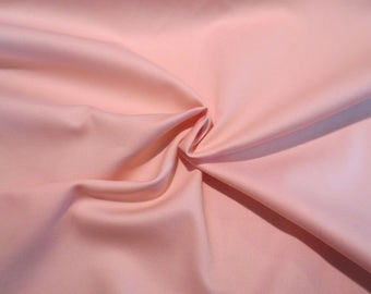 Yummy Peachy Pink Pure Cotton Gabardine Fabric--By the Yard