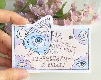 Ouiji Board Sticker, Water Bottle Sticker, Laptop Sticker, Pastel Goth Sticker, Spooky Sticker, Mystical Sticker, Cool Stickers,