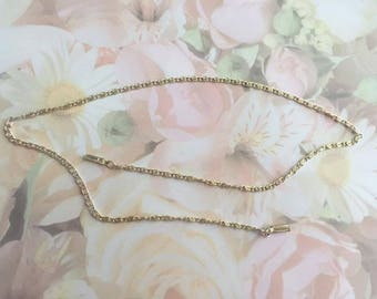 Beading Chain Necklace, Silver Plate, 18 Inch Chain, Etsy Jewelry, Gift Idea, Gift 4 Her, Vintage Jewelry, Vintage, Collectible Jewelry