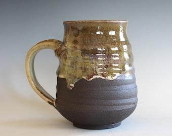 Pottery Coffee Mug, 17 oz, handmade ceramic cup, ceramic stoneware mug, coffee cup