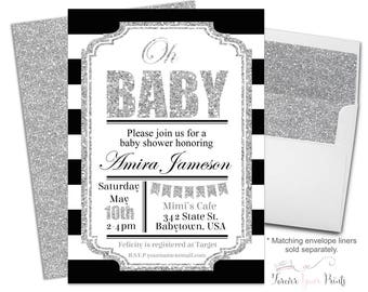 Oh Baby Invitation - Oh Baby Invite - Baby Shower Invitation Boy - Baby Boy Invitation - Baby Boy Invite - Baby Sprinkle Invitations