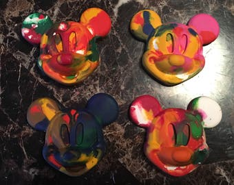 Mouse mickey head crayons