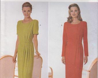 Mock Wrap Dress Pattern Semi Fitted Womans Plus Size 18 - 20 - 22  Uncut Butterick 4557