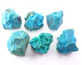 Rough Blue Chrysocolla. Blue Green Chrysocolla.  Chunky Chrysocolla Rough. African.  5 Pcs. 20 - 30mm +/- CHY111