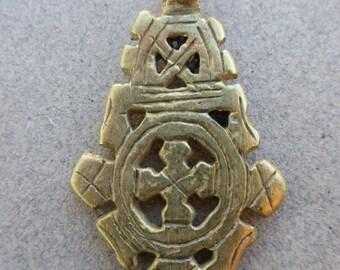 Brass Coptic Cross Pendant