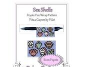 ON SALE Bead Pattern Peyote(Pen Wrap/Cover)-Sea Shells