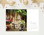 SALE - 2017 Calendar - 4x6 Cafes of Europe Photo Calendar - Little Gift - Holiday Present - Stocking Stuffer - Mom Sister Her Aunt Friend