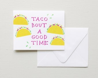 Letterpress Card-Taco  'bout a Party!