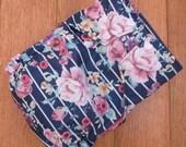 Retro Strip Roses Cloth Diaper