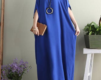 Oversized Loose Fitting Long Maxi Dress, Gown, Oversized Dress, Maternity Clothing, Tunic Dress