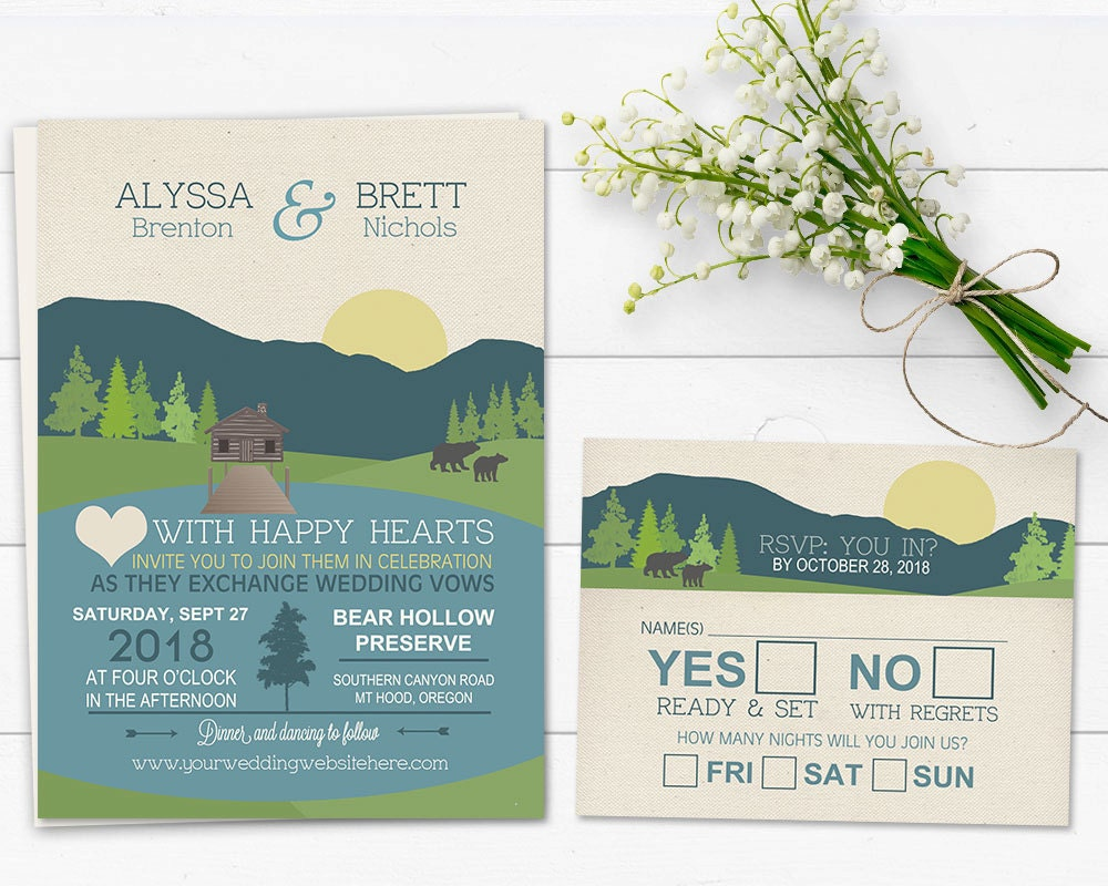 zoom - Camping Wedding Invitations