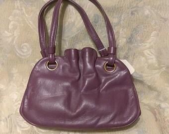 Purple. Vintage Koret. Leather. Handbag