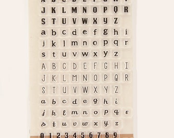 Alphabet and Numbers Stamp Rubber Stamps Travel Stamps for Traveller's Notebook Journal Accessories