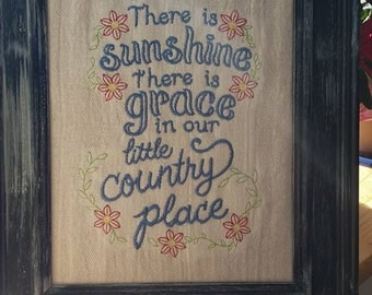 embroidered country wall art,