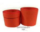 10 Yards WHOLESALE Solid Orange grosgrain ribbon LOW SHIPPING Cost