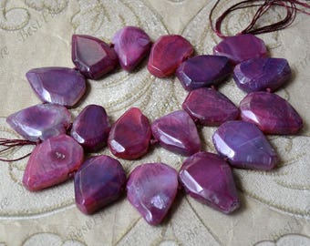 Faceted Agate nugget stone beads loose strands,Gemstone Beads,geode agate stone beads