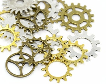bulk lot Watch Parts Clock Parts Watch Gears Steampunk embellishment Collage Parts 1oz lot (15-18pcs) med size not to small or lge  916x