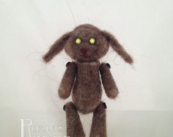Needle Felt Lil' Buddy Brown Lop Bunny Rabbit