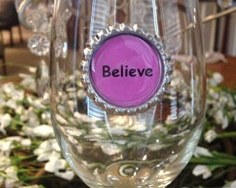 Stemless Wine Glass Charms - Set Of 8