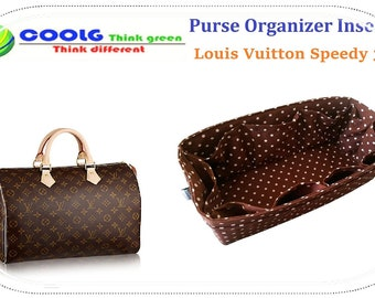 Great quality Purse Organizer Insert Made For Louis Vuitton Speedy 35 / Made To Order / Brown Polka Dots