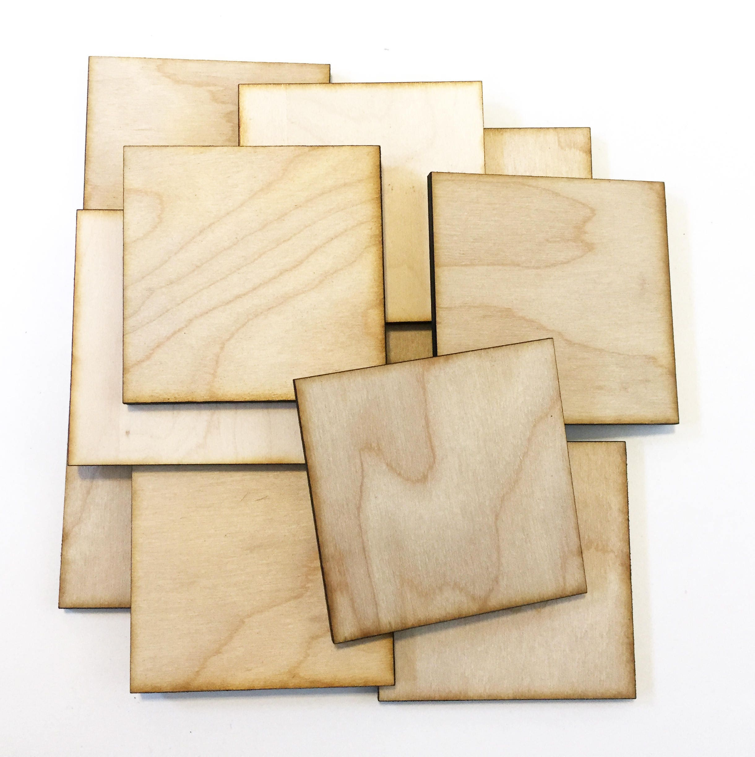 Unfinished wood craft pieces - Sold By Lightninglasercuts