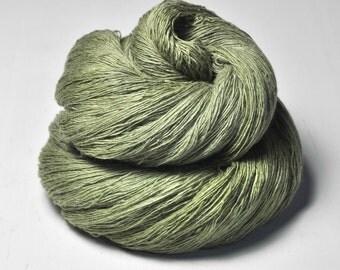 Rotten pistachio cream macaron -  Merino/Cashmere Fine Lace Yarn