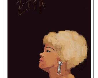 Jazz Etta James-Pop Art Print