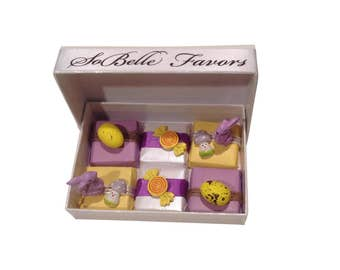 Chocolates with Easter Gift Box - Purple and Yellow