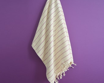 SALE 70 OFF/ Turkish Beach Bath Towel Peshtemal / Purple / Wedding Gift, Spa, Swim, Pool Towels and Pareo