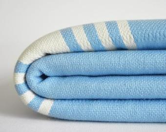 SALE 50 OFF/ Turkish Beach Bath Towel Peshtemal / No12 Blue / Bath, Beach, Spa, Swim, Pool Towels