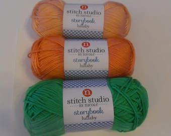 yarn, crochet yarn, knitting yarn, crochet supplies, knitting supplies, stitch studio by nicole, storybook lullaby, medium weight yarn
