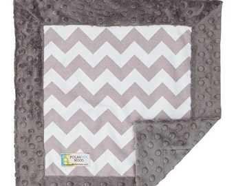 Sale Baby Lovey Blanket- Chevron Baby Blanket-Minky Baby Blanket-Minky Lovey-Lovey Blanket-Security Blanket- Chevron lovey blanket