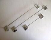 Chrome Towel Bars | Vintage Towel Rods | Single Rod Wall Mount Towel Racks | Set of 3 Towel Rails | Chrome Metal Bathroom Decor
