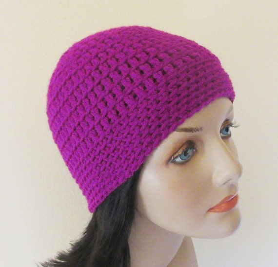 Violet Beanie, Women's Crochet Beanie, Cold Weather Beanie, Crochet Beanie, Purple Snow Hat, Ice Skating. Girl's Night Out