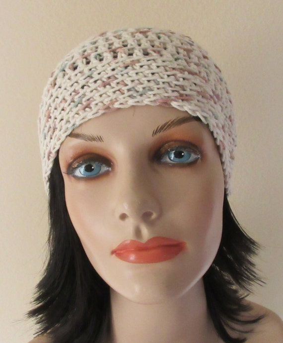 Cream Beanie, Summer Crochet Hat, Spring Crochet Hat, Unisex Beanie, Cream Hat, Spring Cotton Hat, Summer Beanie
