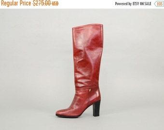 ANNIVERSARY SALE SALVATORE Ferragamo Italian Leather Boots Us 7.5