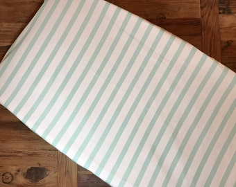 Mint Stripe Baby Changing Pad Cover l Gender Neutral l Fitted Crib Sheet l Nursery Crib Bedding