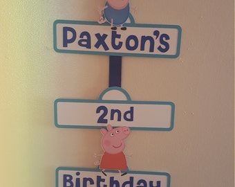 Peppa Pig Party Sign