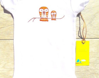 Children - Owl and Baby - Toddler T-Shirt or Baby Onesie