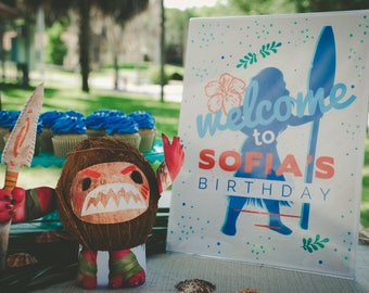 Moana Birthday Party Sign, Moana Welcome Sign, Moana Party