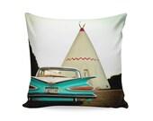 Route 66 Wigwam Motel Pillow Cover | Travel Trailer Decor