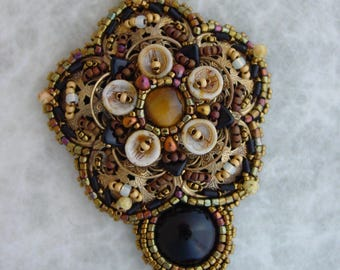 Filigree Pendnat KIT Black and Brown