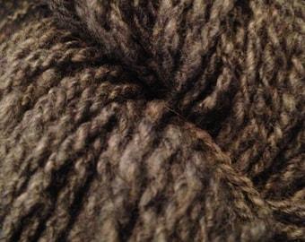 Gray Shetland Wool Hand Spun Yarn