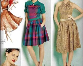 Simplicity 1755 Leanne Marshall Retro Keyhole Halter Dress Sewing Pattern UNCUT Size 12, 14, 16, 18, 20 Rockabilly