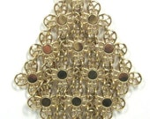 "Sale Pre Holliday Vintage Sarah Coventry ""Golden Petels""  Necklace"