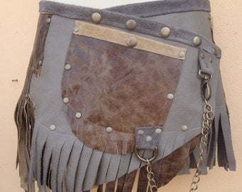 """20%OFF bohemian tribal gypsy fringed leather belt..26"""" to 34"""" waist or hips.."""
